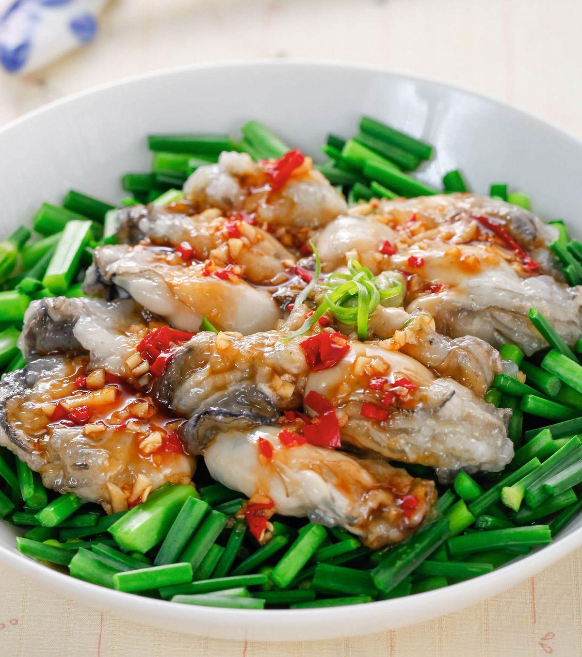食譜:韭菜拌鮮蚵