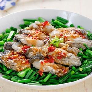 韭菜拌鮮蚵