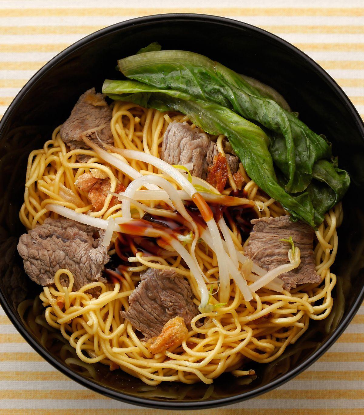 食譜:蠔油牛肉撈麵