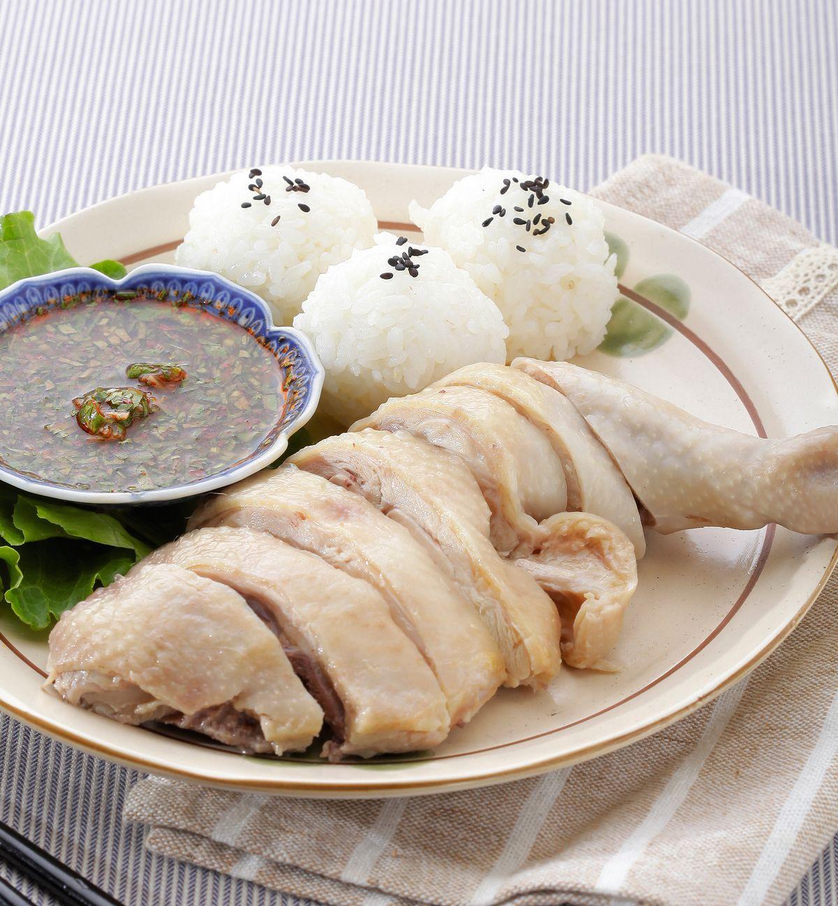 食譜:海南雞球飯