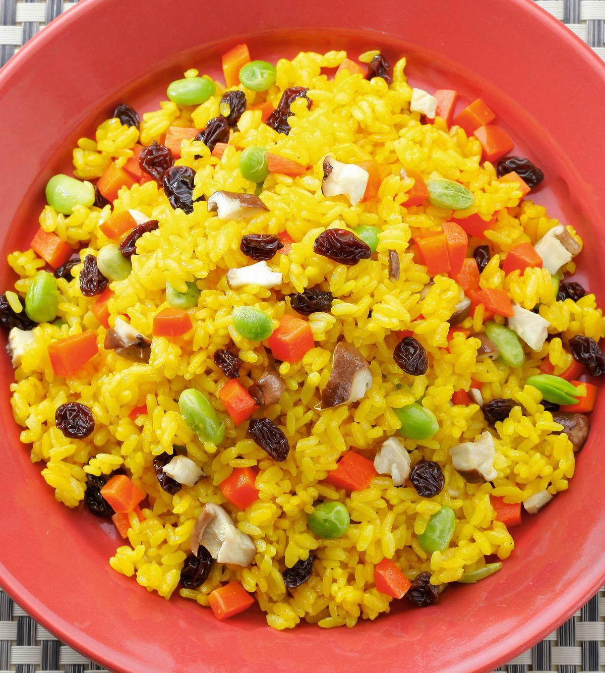 食譜:薑黃蔬菜飯