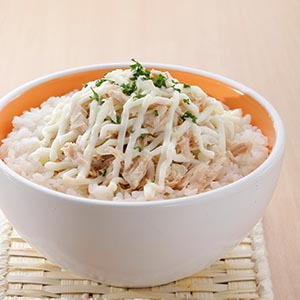 鮭魚沙拉蓋飯