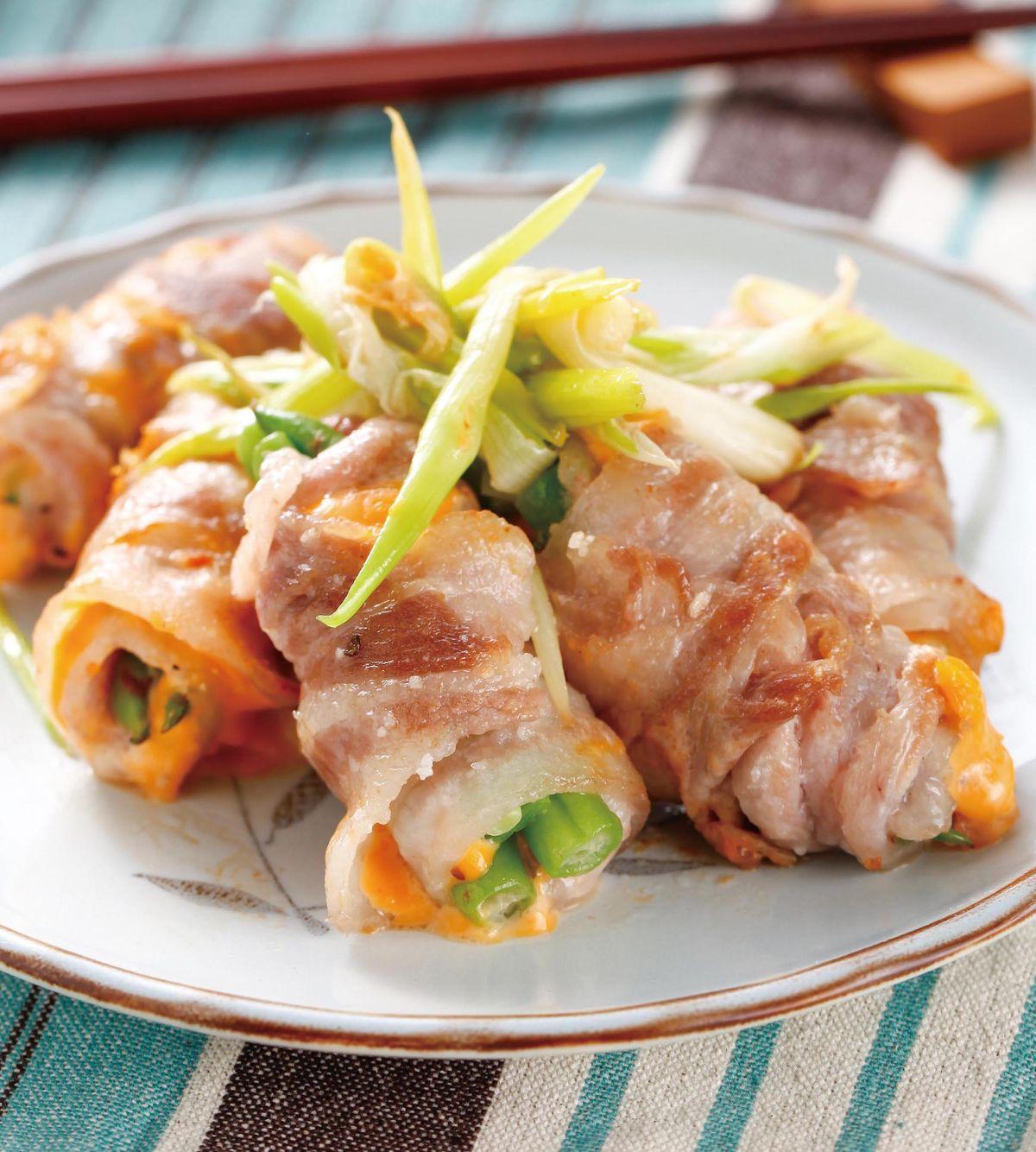 食譜:蔥香蔬菜肉捲