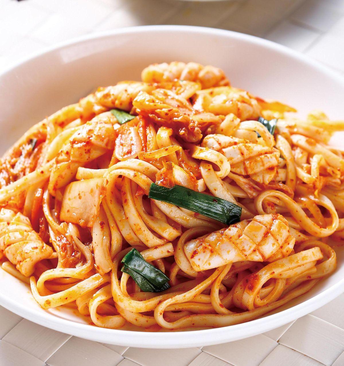 食譜:鮮魷泡菜炒麵