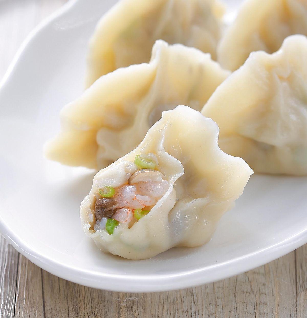 食譜:蕈菇鮮蝦餃