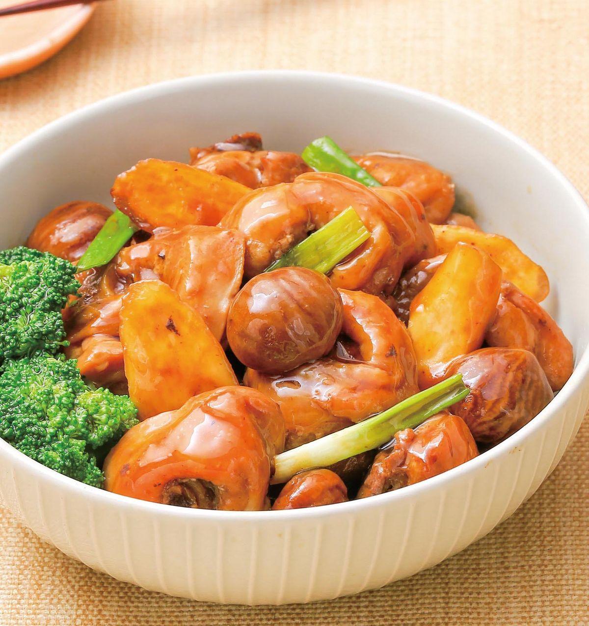 食譜:栗子淮山燒雞