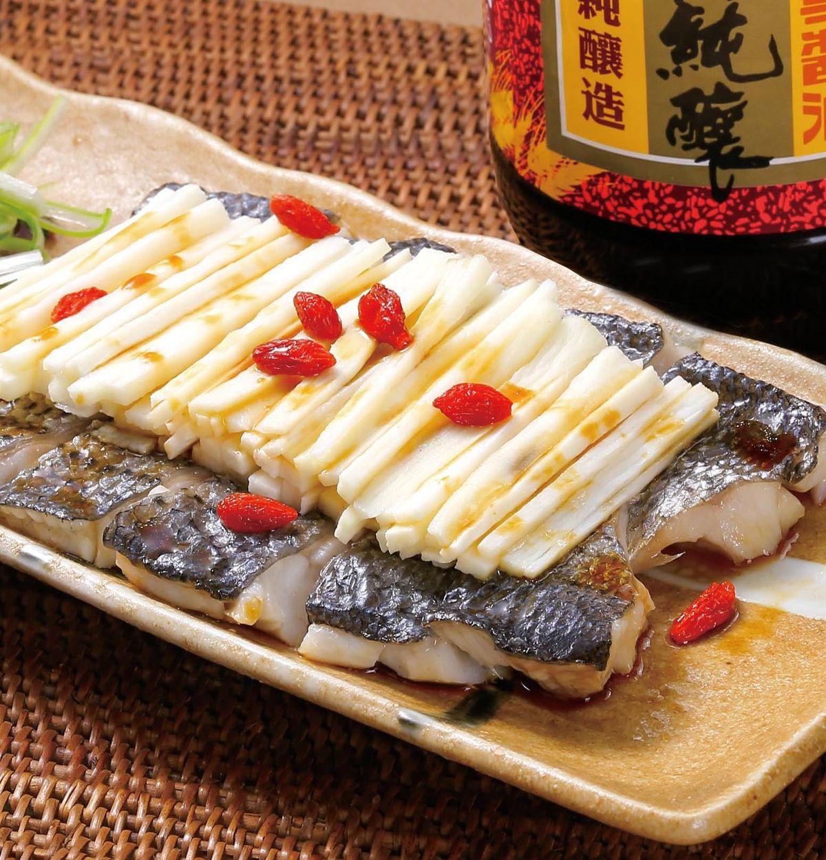 食譜:山藥枸杞蒸魚