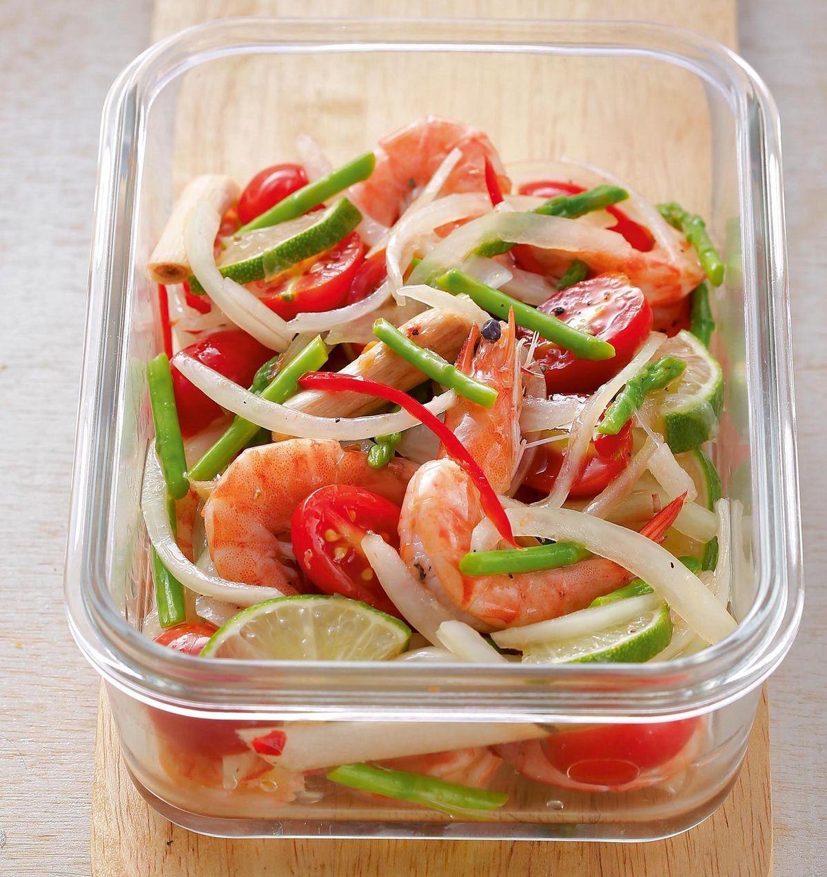 食譜:涼拌泰式酸辣鮮蝦蘆筍