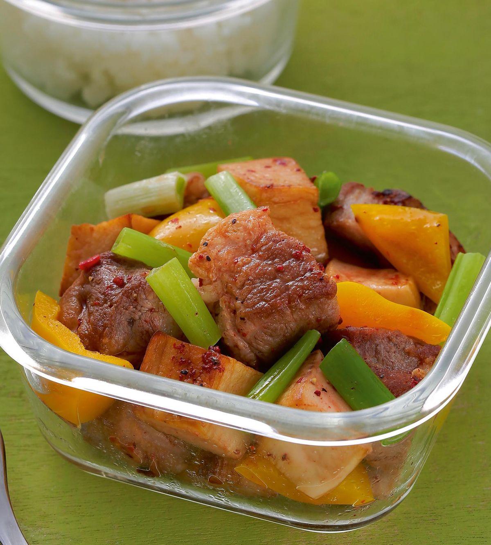 食譜:紅麴杏鮑菇拌梅肉