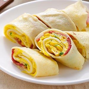 培根玉米蛋餅(1)