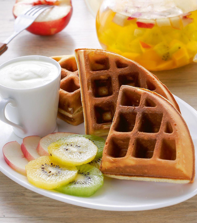 食譜:水果優格格子鬆餅