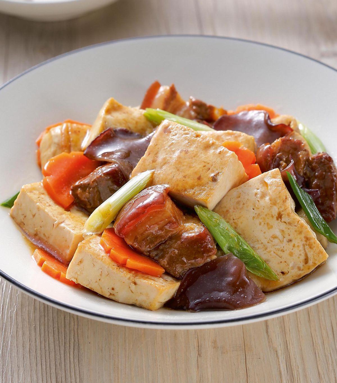 食譜:滷肉燒豆腐