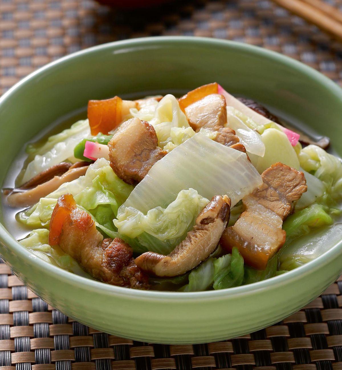 食譜:香菇滷肉燒白菜