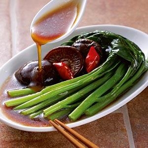 蠔油淋香菇芥蘭