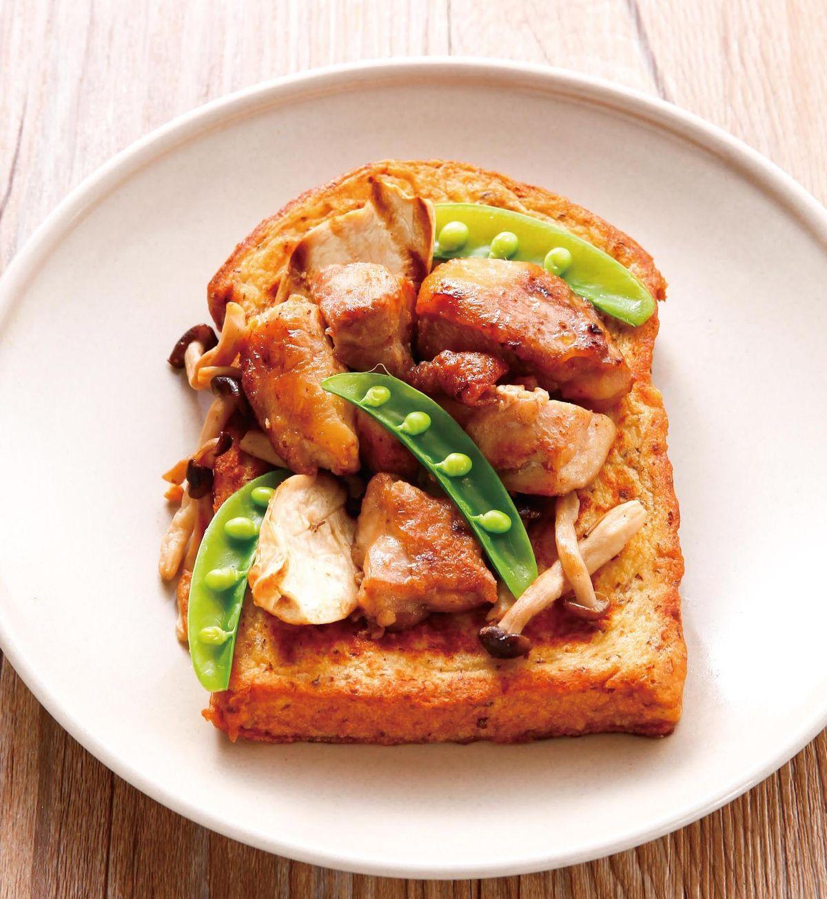食譜:鹽燒鮮菇嫩雞佐法式土司