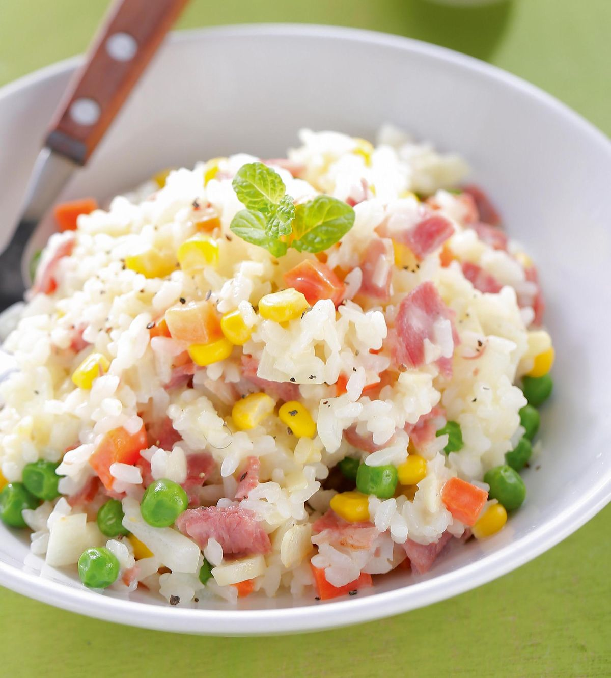 食譜:奶油培根玉米燉飯