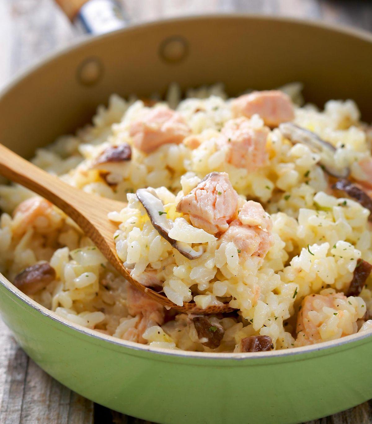食譜:奶油鮭魚豆仁燉飯