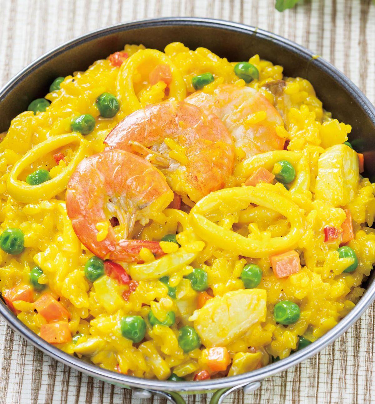 食譜:薑黃海鮮燉飯