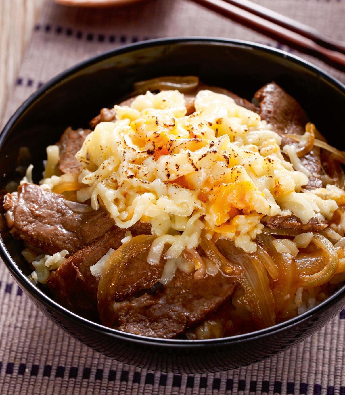 食譜:香濃起司牛丼