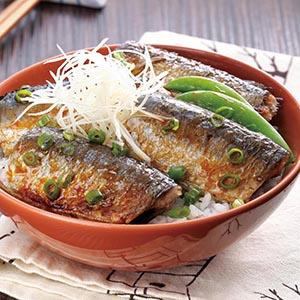 秋刀魚丼(1)