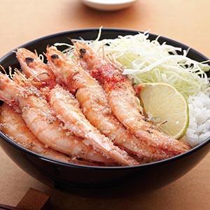 鹽烤草蝦蓋飯