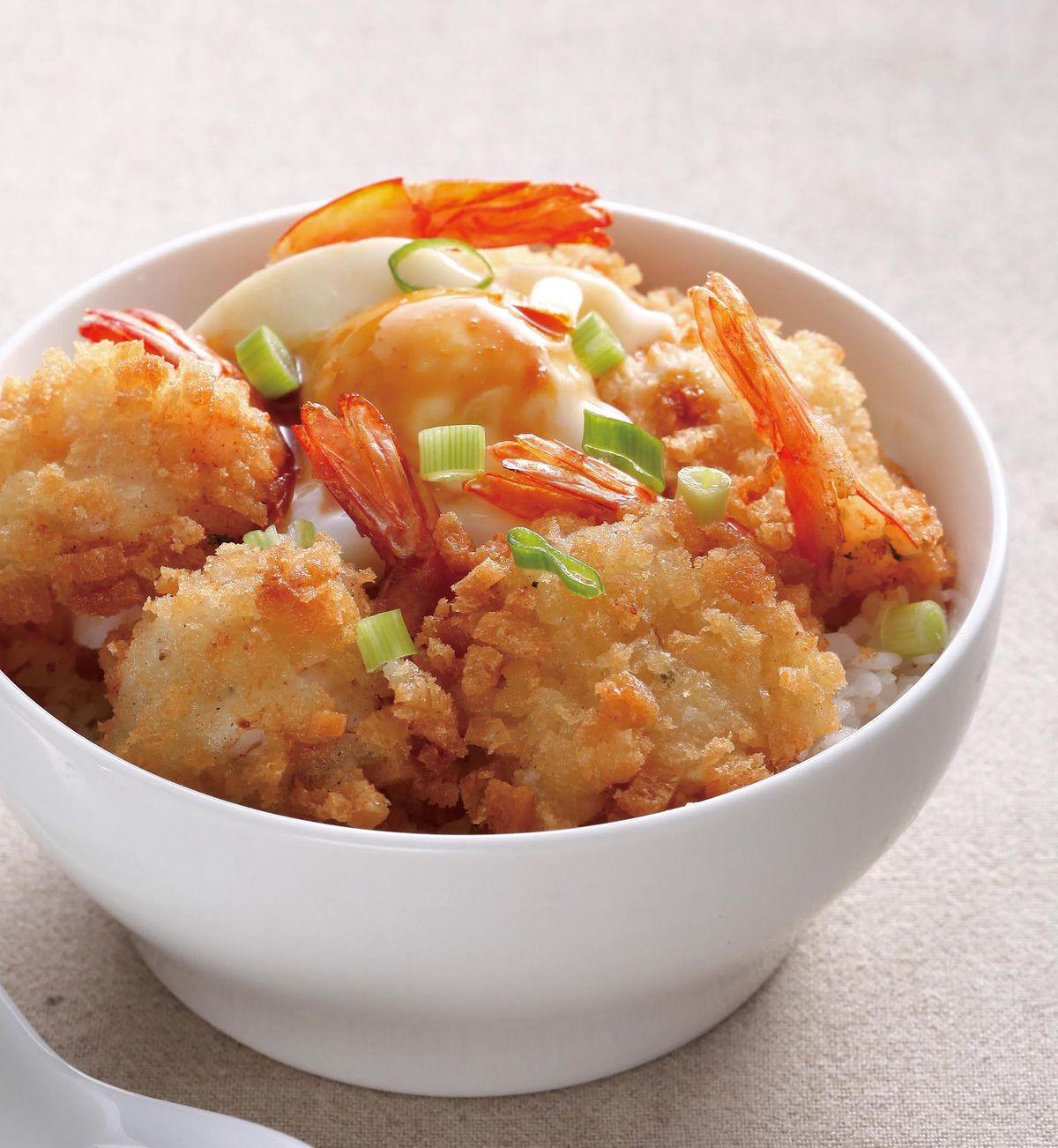 食譜:美味炸蝦丼
