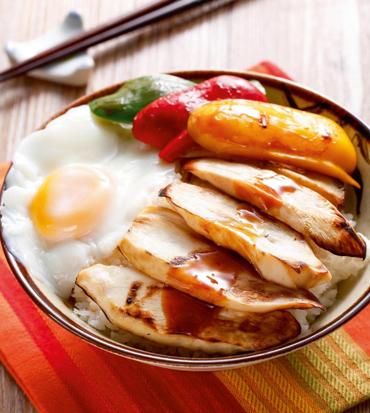食譜:炙烤鮑菇蓋飯