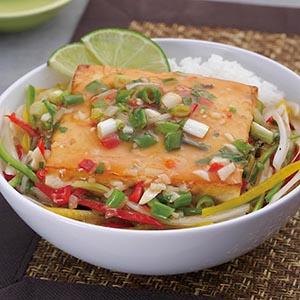 泰式煎豆腐蓋飯