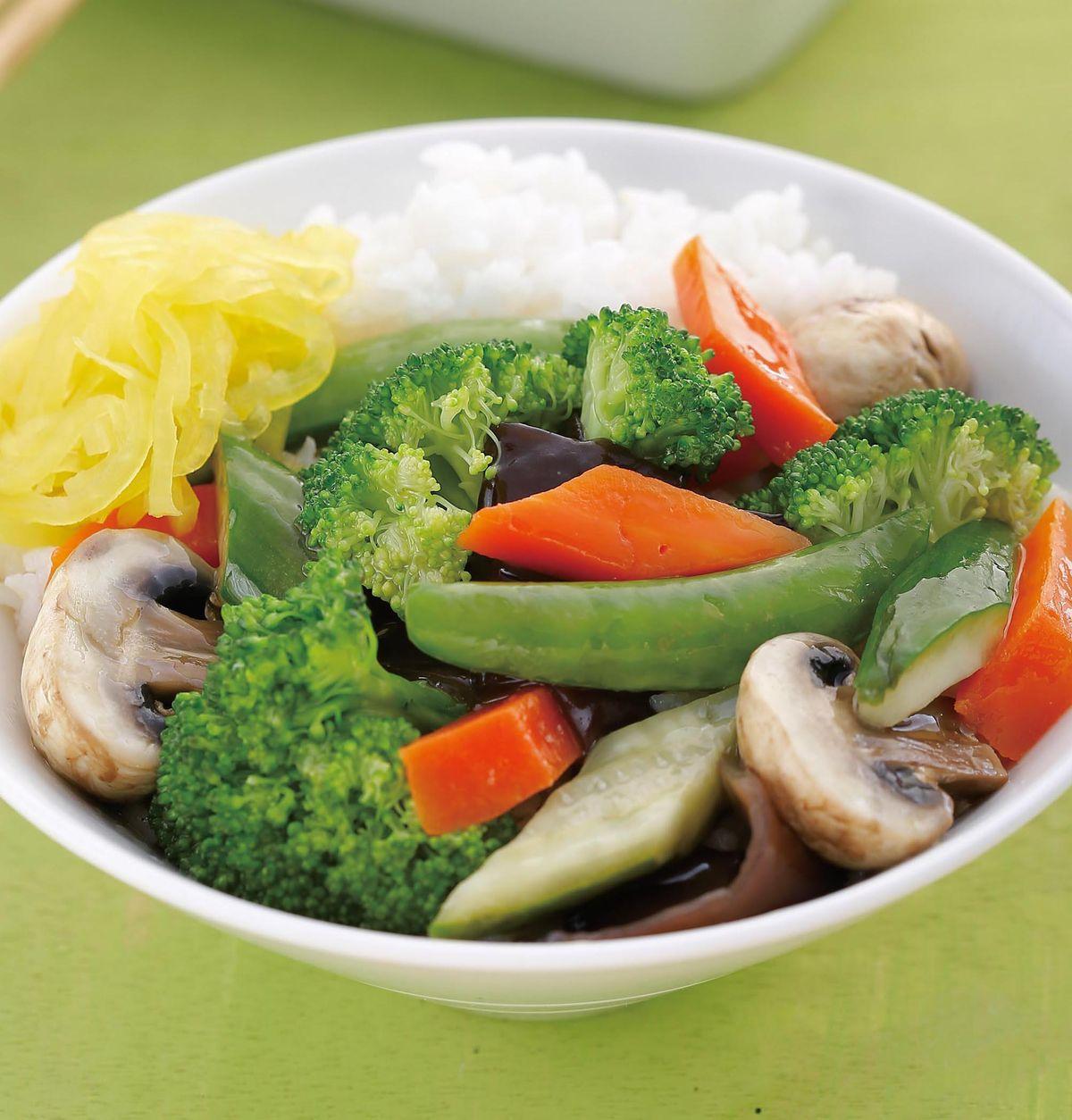 食譜:菩提齋素食蓋飯