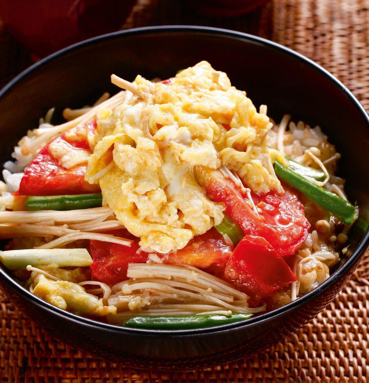 食譜:番茄滑蛋蓋飯