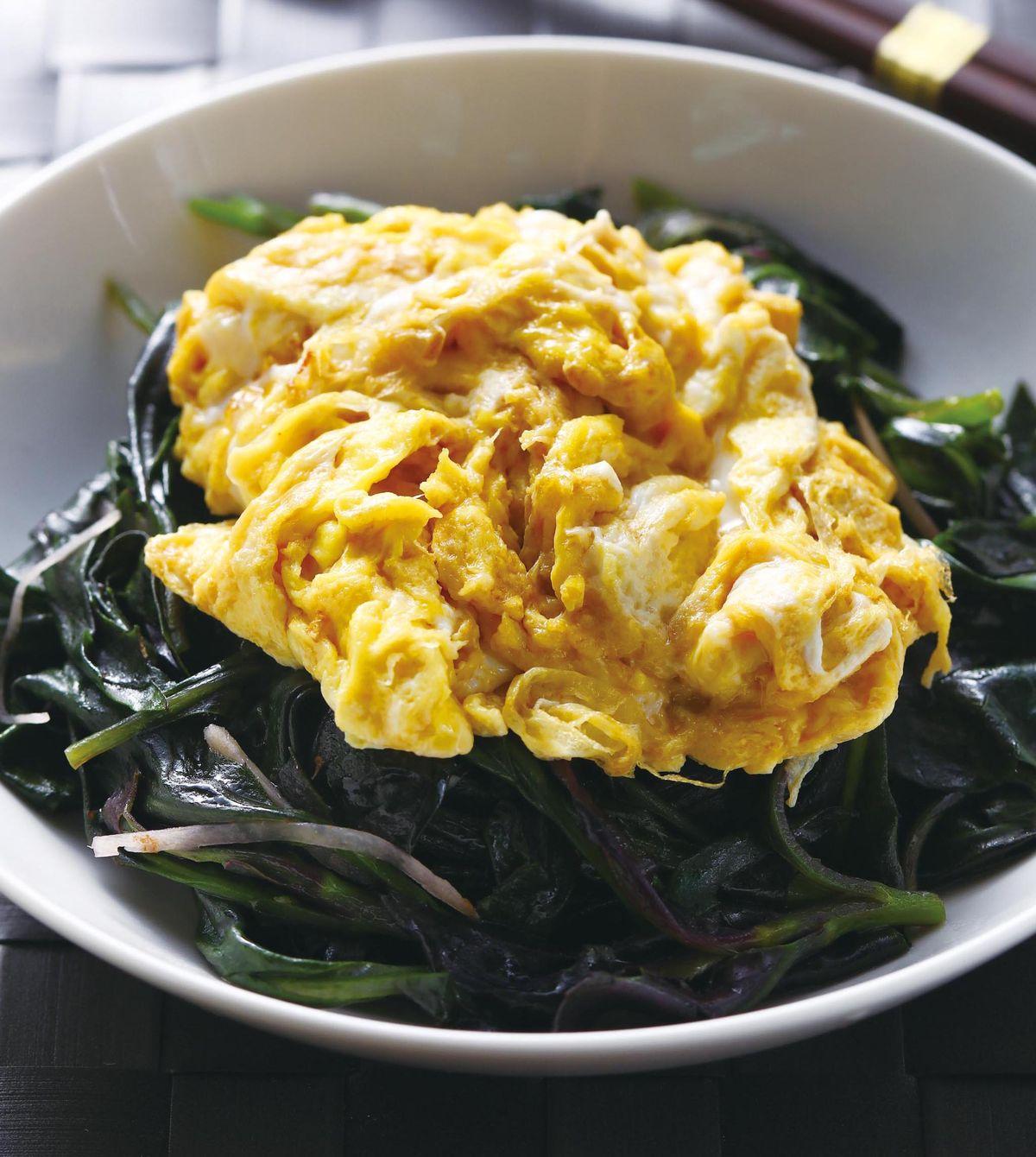 食譜:雞蛋麻油紅鳳菜