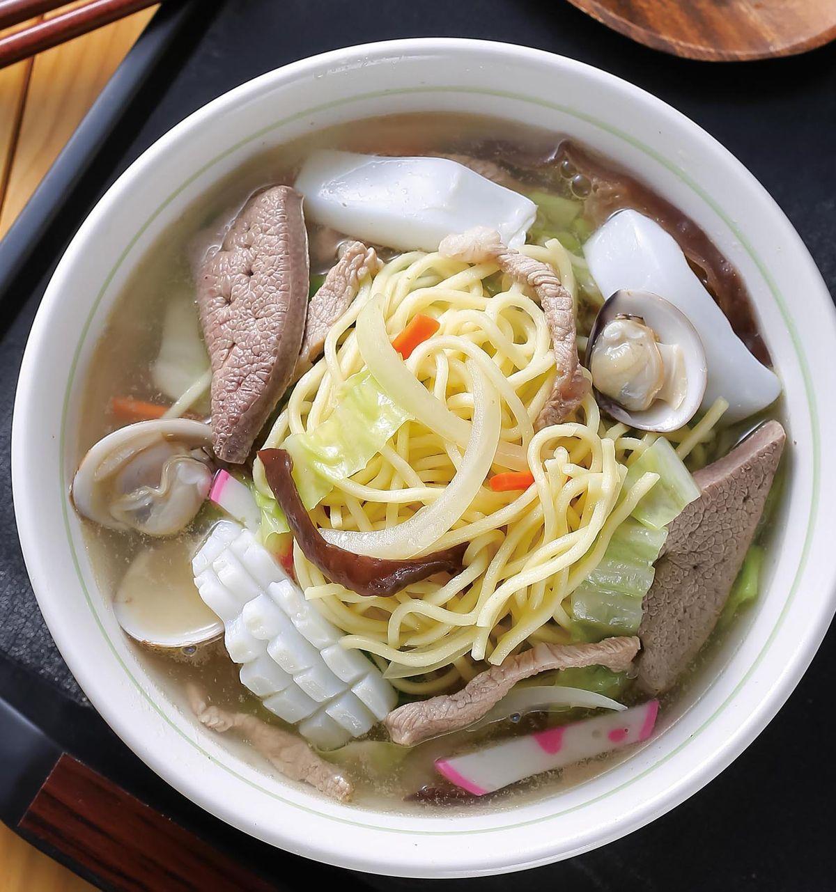 食譜:什錦湯麵(1)