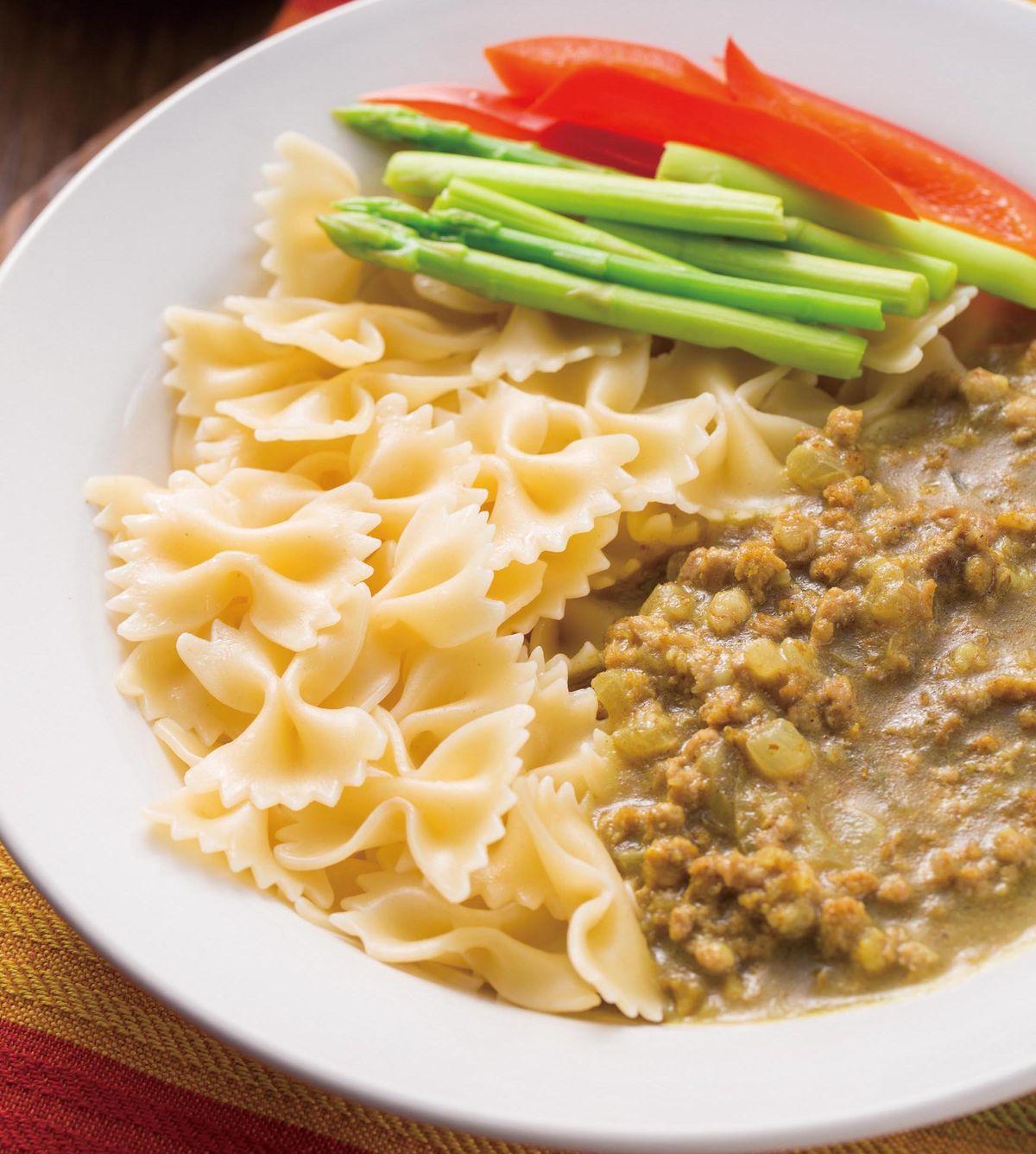食譜:絞肉咖哩義大利麵