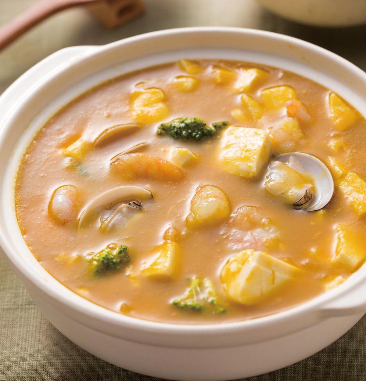 食譜:海鮮豆腐煲(1)