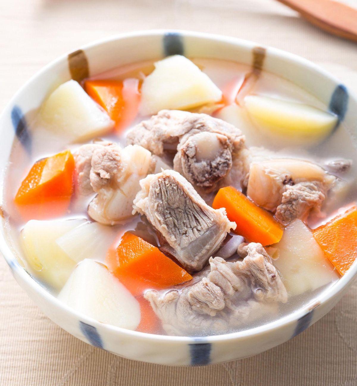 食譜:紅蘿蔔馬鈴薯排骨湯