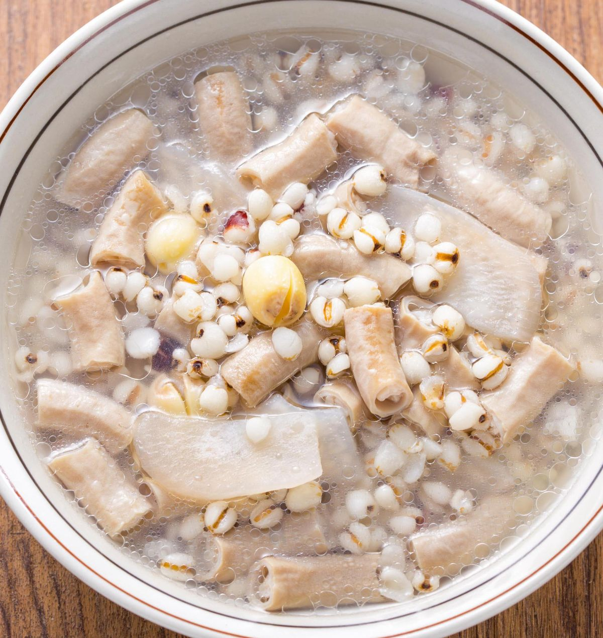 食譜:四神豬腸湯(1)