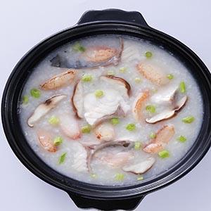 蟹肉魚片粥