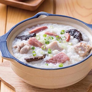 火腿土雞粥