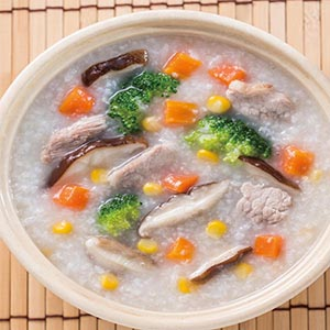 鮮蔬肉片粥