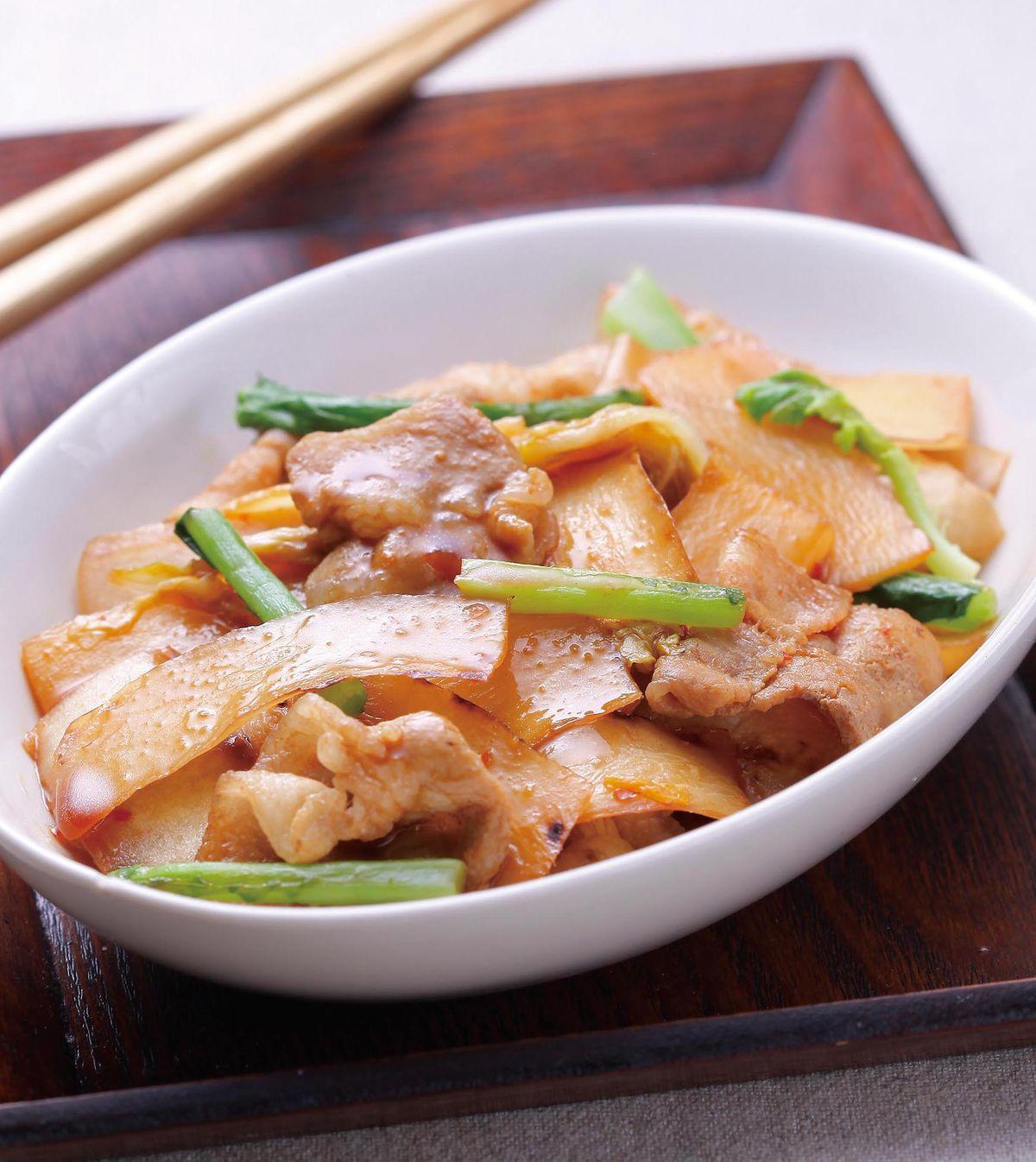 食譜:蘿蔔皮炒泡菜