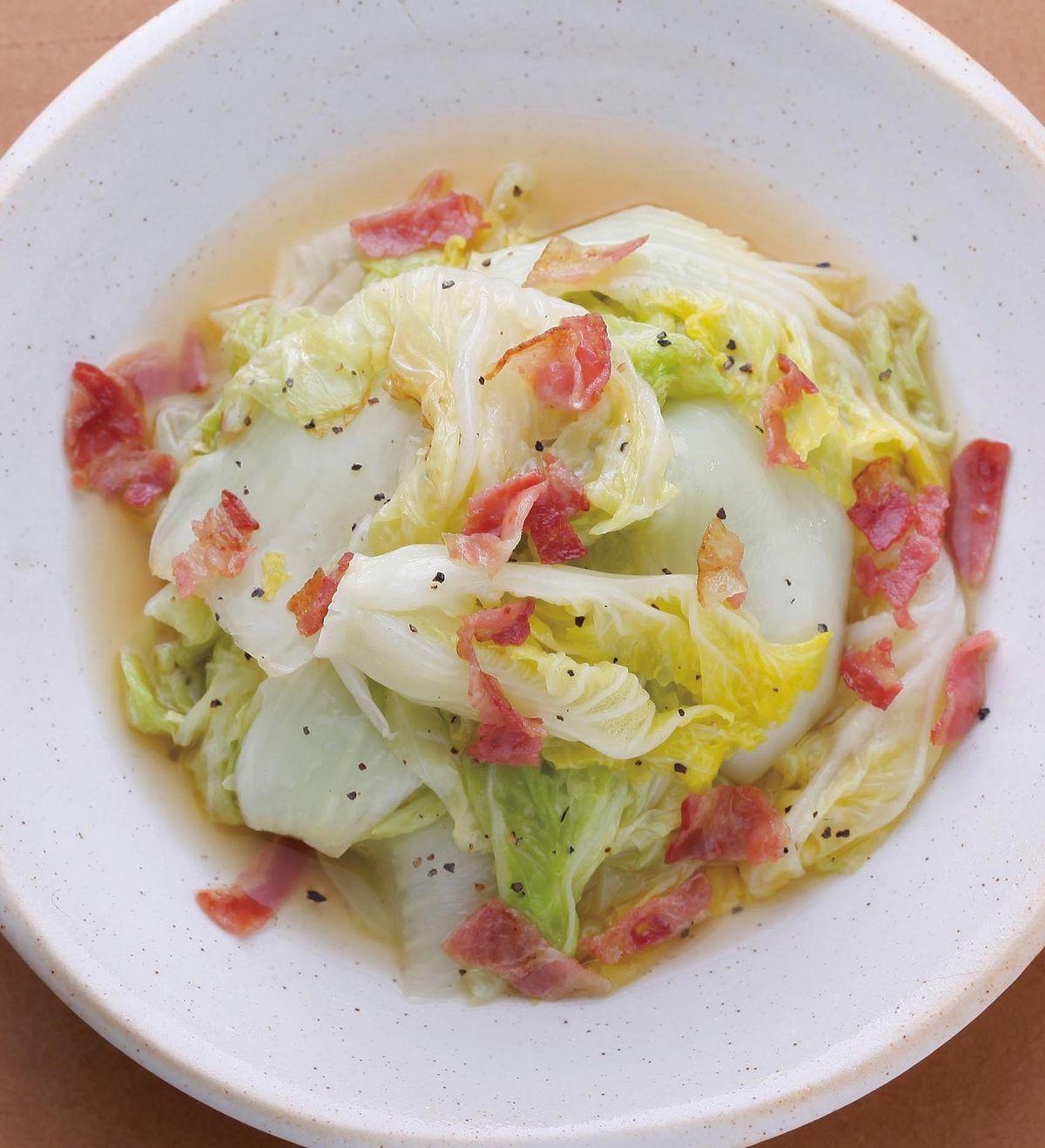 食譜:奶油煎白菜