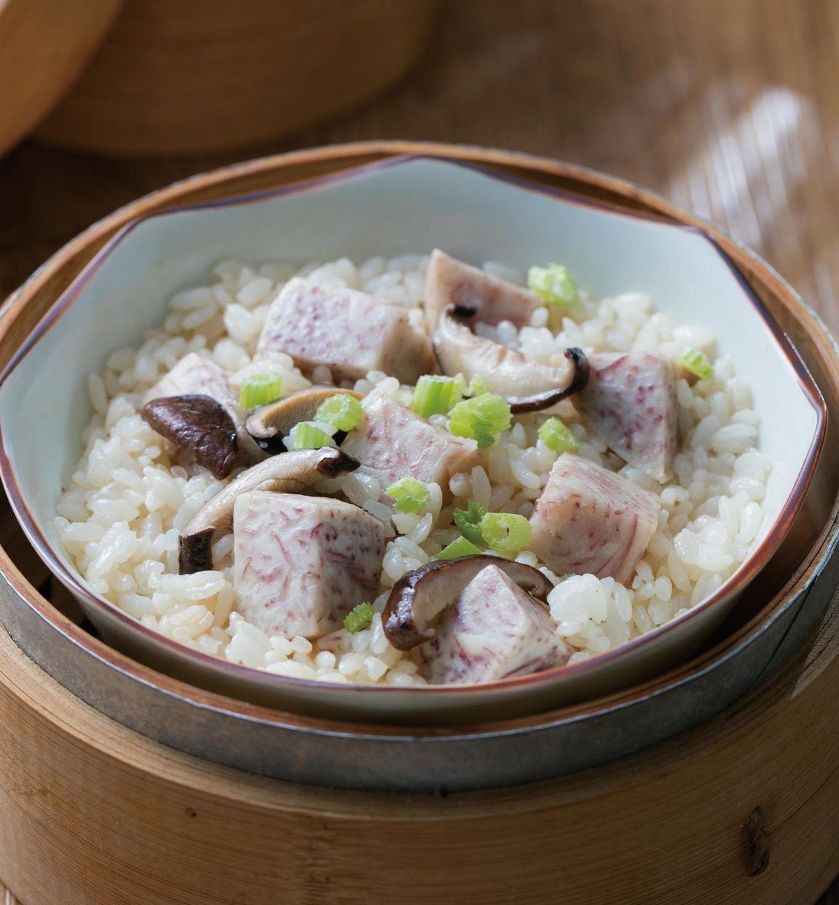食譜:香菇芋頭炊飯