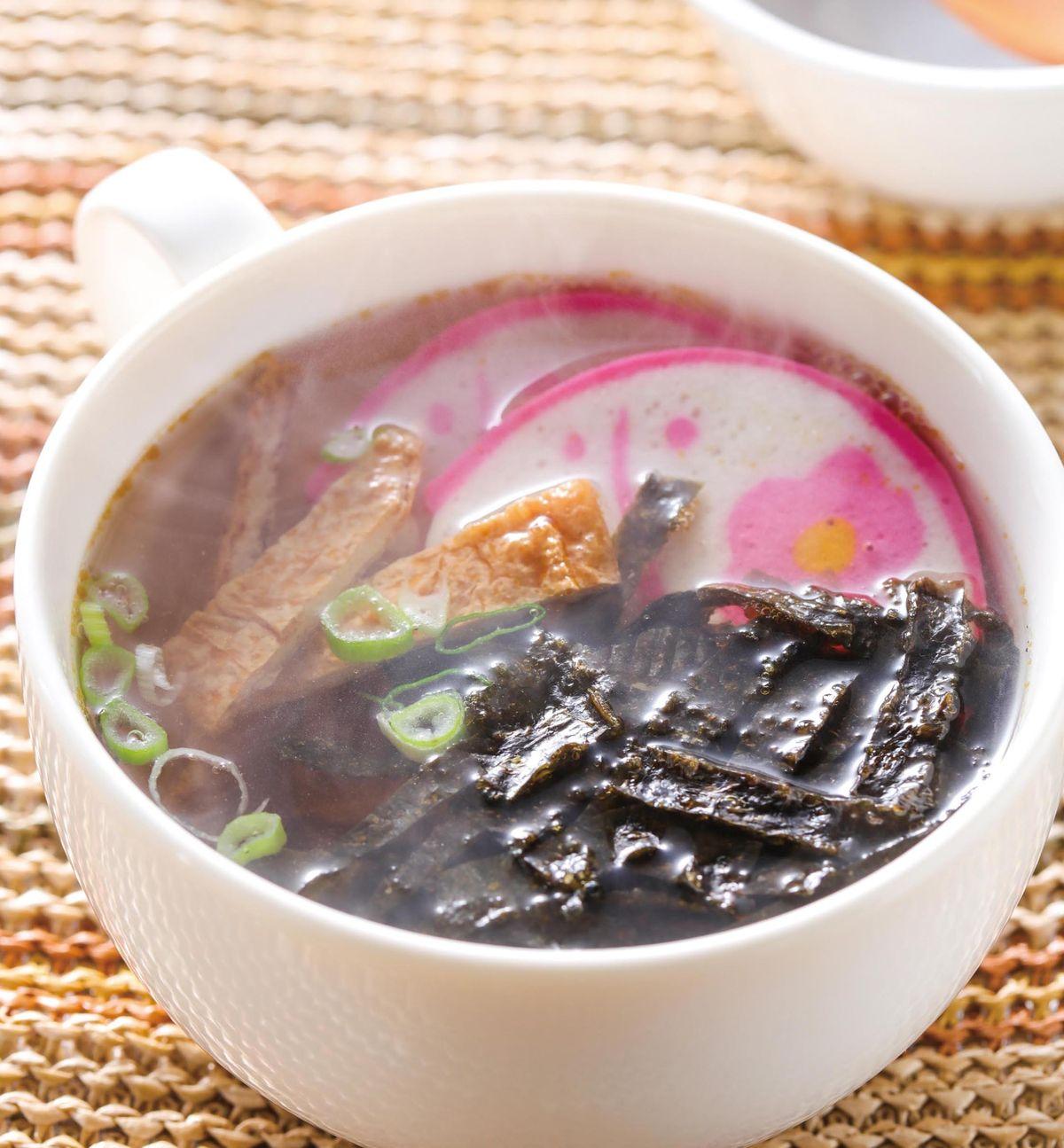 食譜:豆皮海苔湯