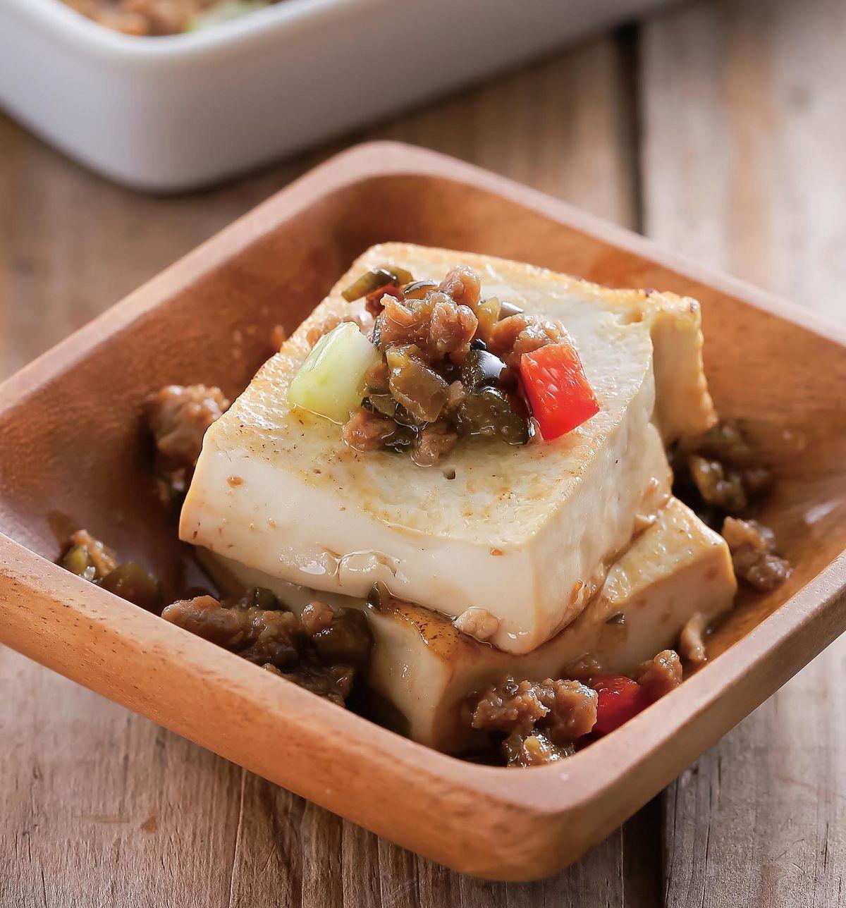 食譜:瓜仔素肉燒豆腐