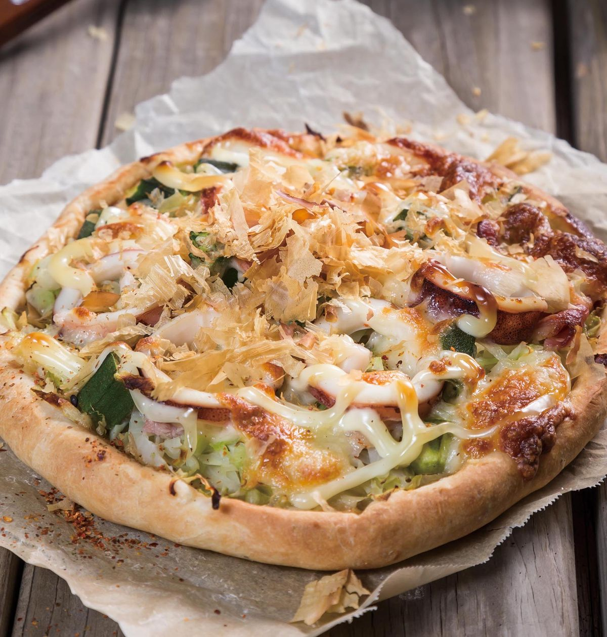 食譜:和風透抽披薩