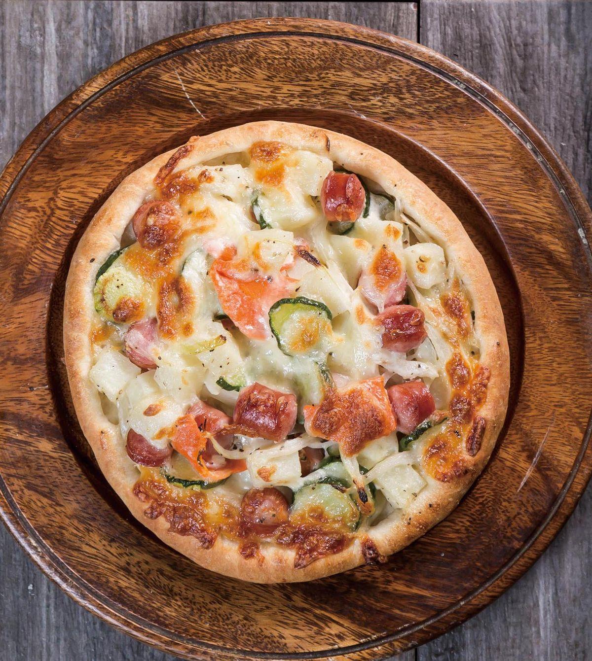 食譜:馬鈴薯沙拉披薩