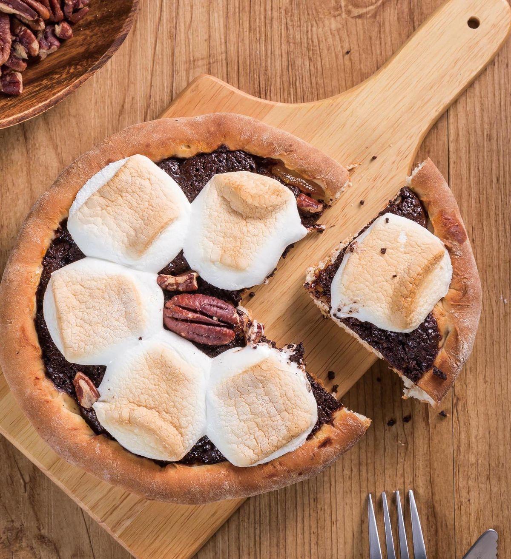 食譜:巧克力棉花糖披薩
