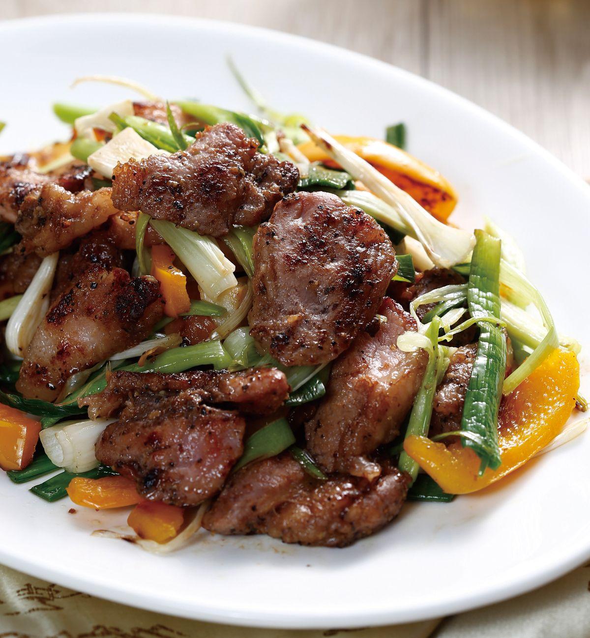食譜:青蒜炒鹹豬肉