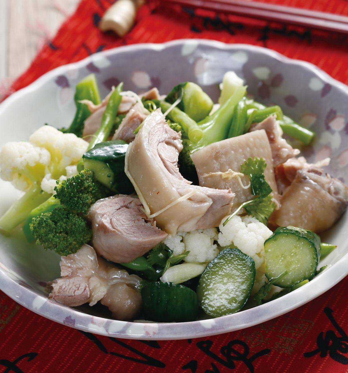 食譜:什蔬鹽水雞