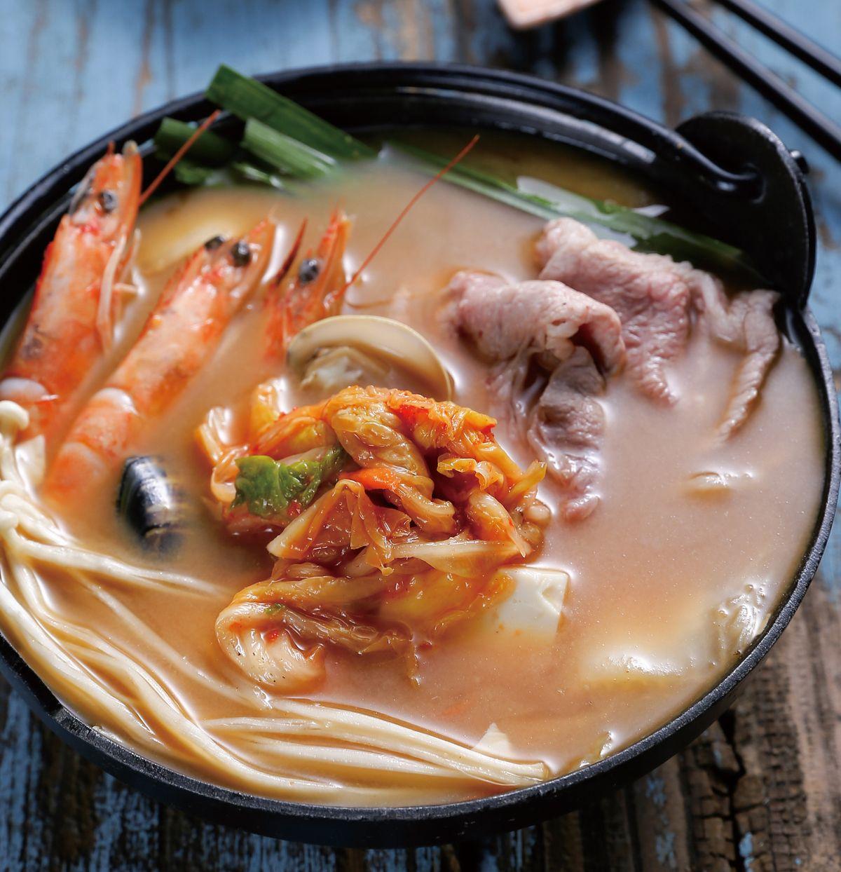 食譜:味噌泡菜鍋(1)